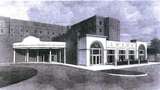 Rendering of Queensbury Hotel Ballroom Expansion