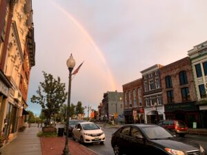 Rainbow over Downtown Glens Falls