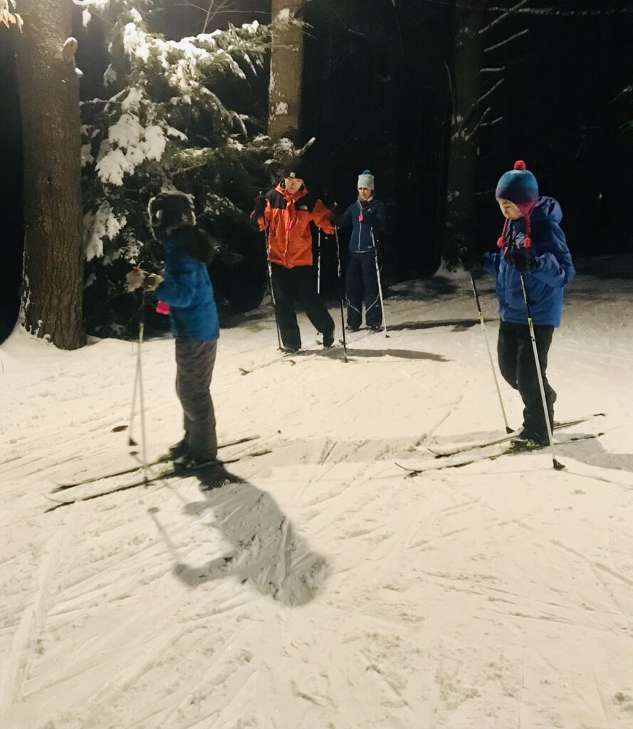 nordic skiers in Cole's Woods
