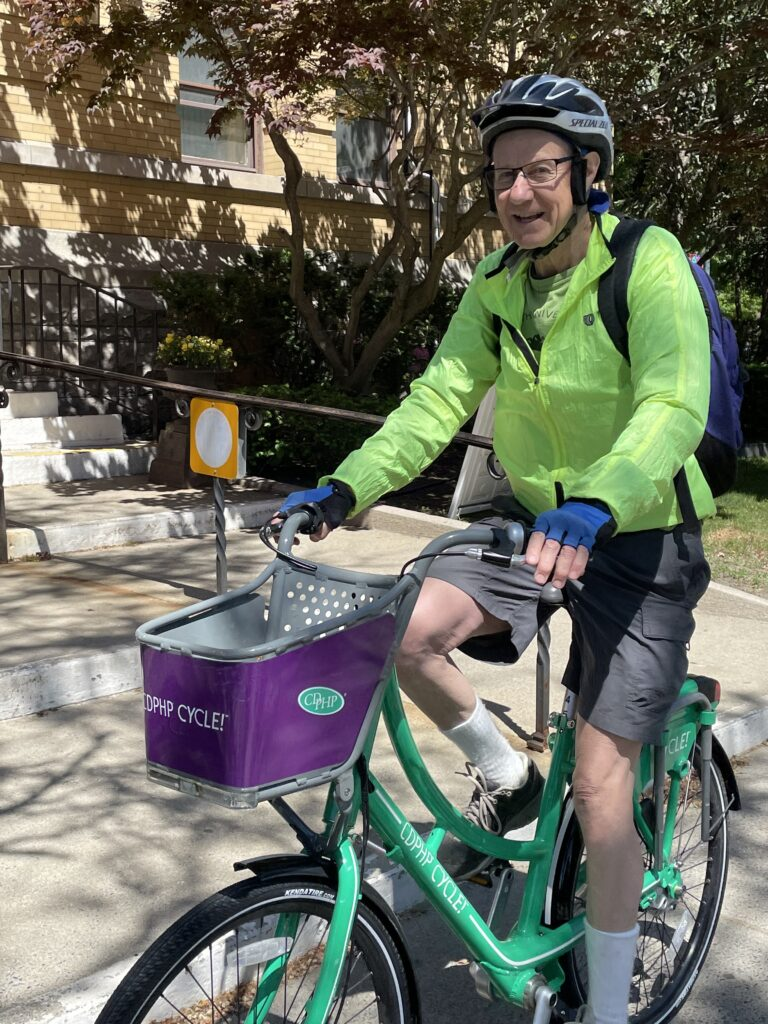 Man on CDPHP Bicycle
