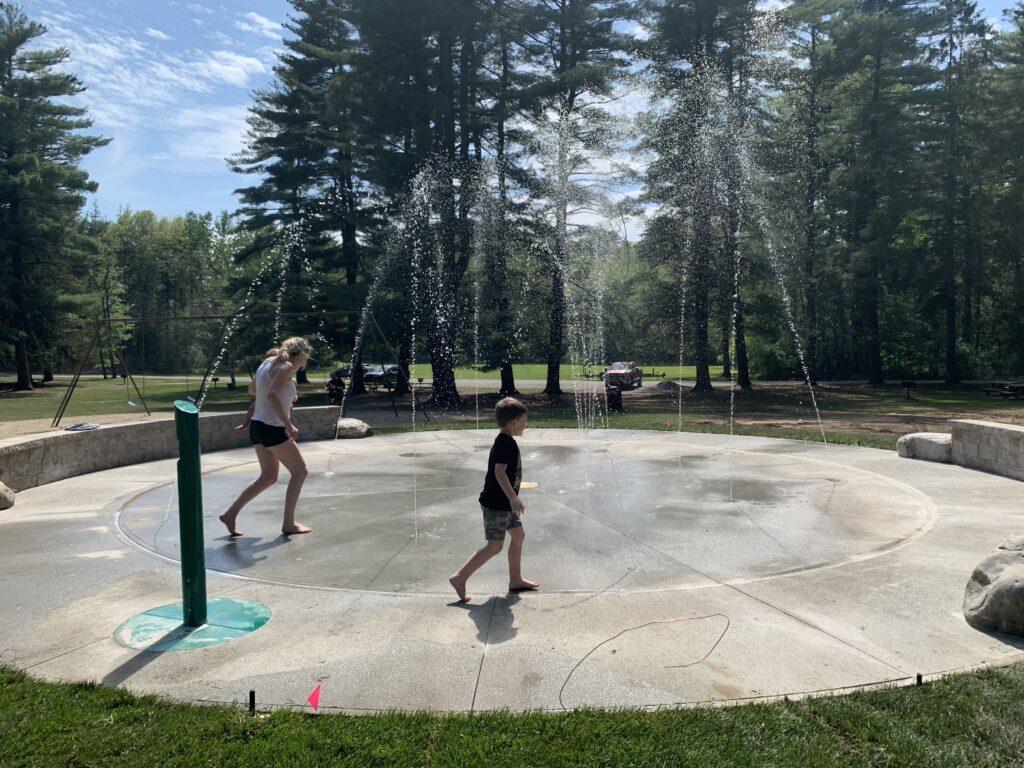 Splash pad at Crandall Park